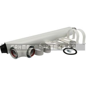 STOUT дымоход коаксиальный для прохода через стену универсальный комплект D 60/100
