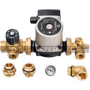 STOUT Комплект для насосной группы с термостатическим клапаном; Grundfos UPSO 25-65 130