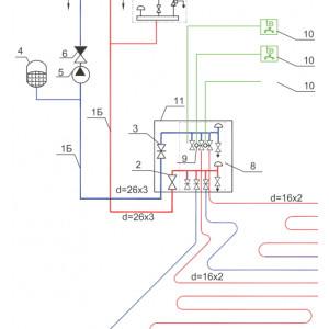 Альбом типовых схем систем водяного отопления для жилых домов, справочная информация