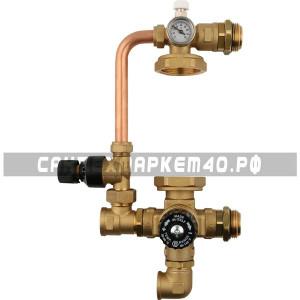 STOUT Комплект для насосной группы с термостатическим клапаном и байпасом, без насоса