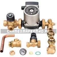 STOUT Комплект для насосной группы с термостатическим клапаном и байпасом; Grundfos UPSO 25-65 130