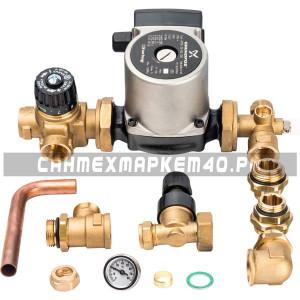 STOUT Комплект для насосной группы с термостатическим клапаном и байпасом; Grundfos UPSO 25-65 130 в Калуге