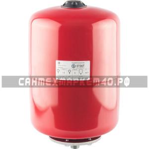 STOUT Расширительный бак на отопление 18 л. (цвет красный)