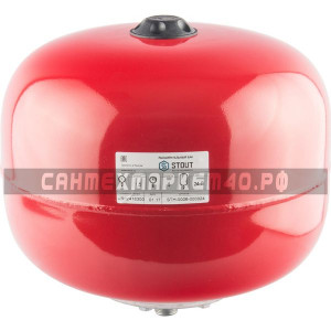 STOUT Расширительный бак на отопление 24 л. (цвет красный)