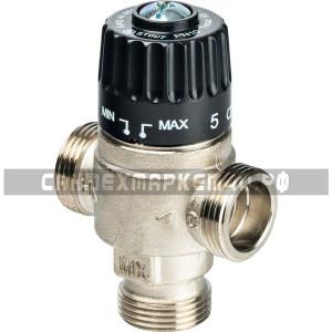 """STOUT Термостатический смесительный клапан для систем отопления и ГВС 3/4"""" НР 30-65°С KV 2,3"""